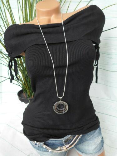 34 bis 44 schwarz 228 Melrose Shirt Damen Bluse Carmenshirt Gr NEU