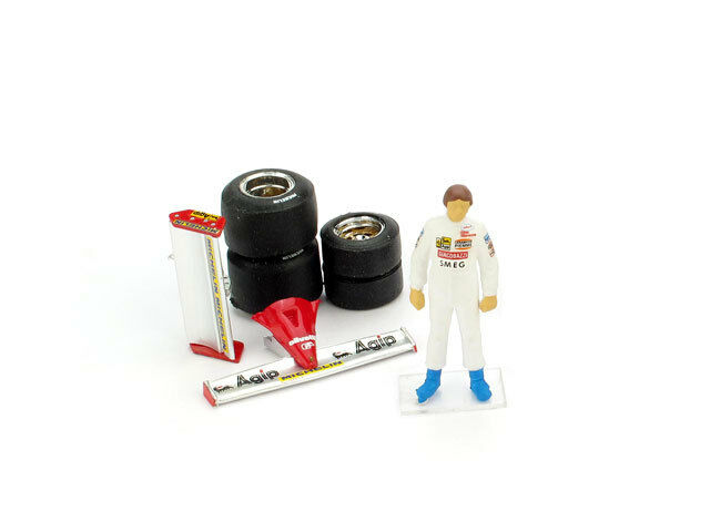 Villeneuve Driver Figure + Wing + Tires Set Diorama Accessory 1 43 Model BRUMM