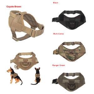 Tactical-Service-Harness-Military-K9-Working-Patrol-Adjustable-Dog-Vest-W-Handle