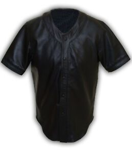 Sheep Leather Shirt Ball Real Black Soft Mens Nappa Base Jersey Ew4XzqwCx