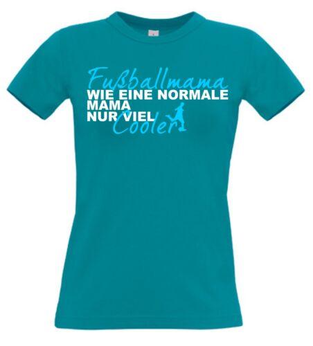 Fußballmama Shirt Fußball Mama T-Shirt Muttertag Geschenk Ball Textildruck S3