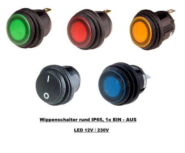Beleuchtet Wippschalter Spritzwassergeschützt IP65 Kippschalter Rocker Switch