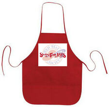 RED LONG SHARE THE FUN (2) APRON FOR RED HAT LADIES OF SOCIETY TEAS OR LUNCHEON