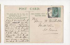 Miss K Nicholls Milltown St Erme 1904  760a