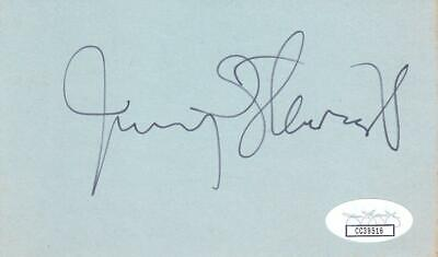 Cards & Papers James Stewart D 1997 Signed 3x5 Index Card Actor/it's A Wonderful Life Jsa