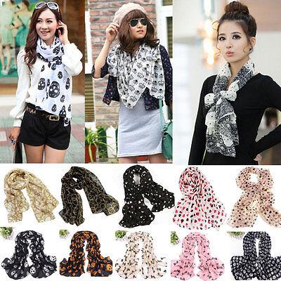 14 Style Women's Chiffon Scarf Wraps Shawls Soft Scarves Neckerchief Headband