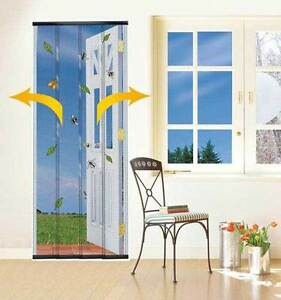 Image Is Loading INSECT FLY SCREEN WASP PATIO DOOR DRAUGHT CURTAIN