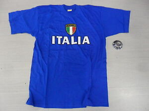 0891 Taille 5-6 Anni Italia Italie Ventilateur Tee T-shirt Supporter Enfant
