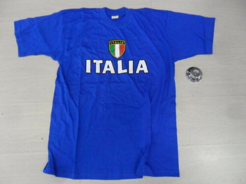 0889 TG XXL ITALIA ITALY FAN TEE T-SHIRT TIFOSO COTONE COTTON JERSEY