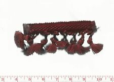 """2.75"""" Red Fabric Trim by Clarence House Maestro Galon Tassel Fringe CL Cardinal"""