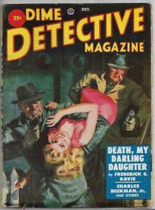 Vintage Pulp~DIME DETECTIVE MAGAZINE~Oct. 1951 DAY KEENE+ Saunders Cvr. EXCOND!