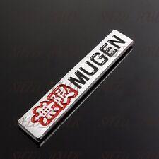 "Mugen 3D Car Trunk Spoiler 4"" Emblem Badge Sticker Decal for HONDA CIVIC SI Lip"
