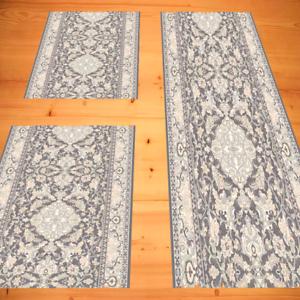 Cama bordeado dormitorio 100% lana clásico oriental 3 pzas. antracita