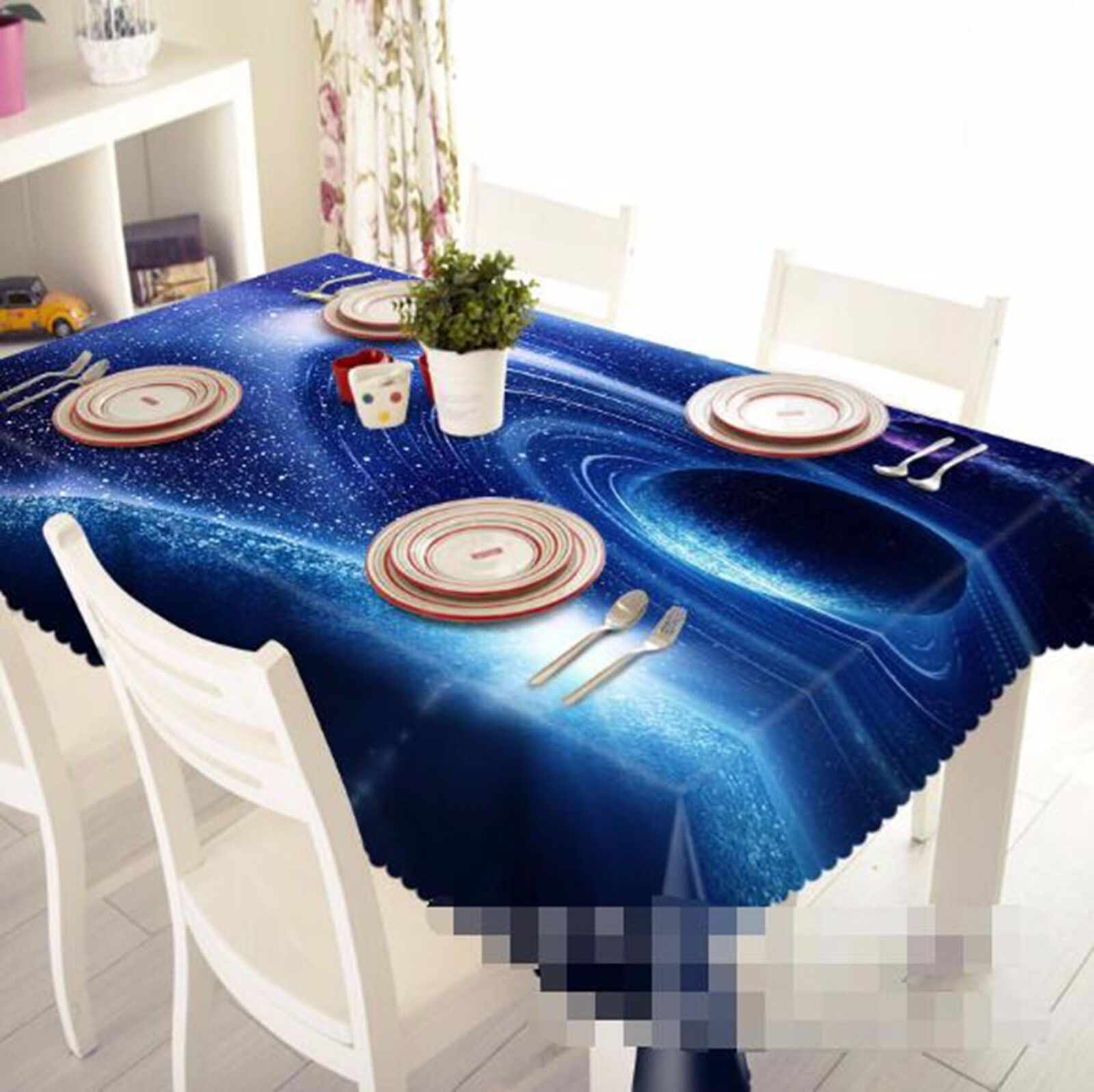 3D Vortex 6 Nappe Table Cover Cloth fête d'anniversaire AJ papier peint Royaume-Uni Citron