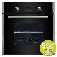 Myappliances Ref28731 60cm Built In Single Black Fan Assisted Electric Oven