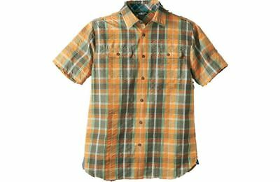 The North Face Men's Delcosta Shirt Short-Sleeves QuickDry Topaz Orange Size XL