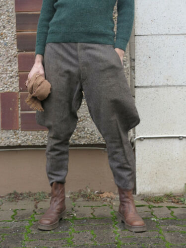 Herren Plateaustiefel Italien braune Stiefelette 70er Leder Truevintage 70er Stiefel