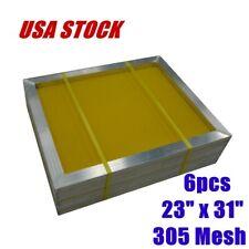 Usa 6pcs 23 X 31 Silk Screen Printing Screens Frame 305 Mesh