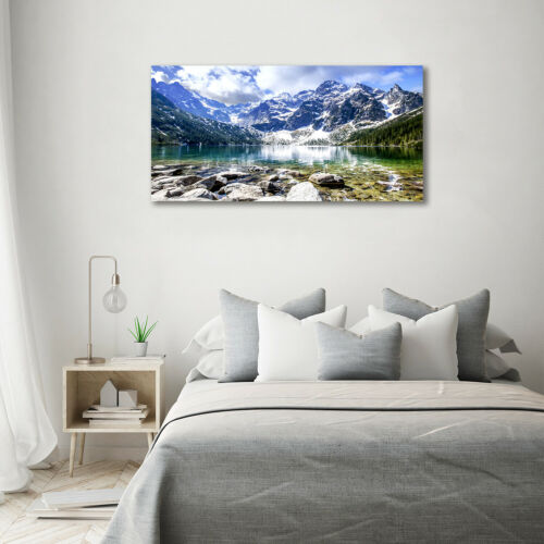 Leinwandbild Kunst-Druck 140x70 Bilder Landschaften See Gebirge Berge