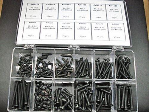Ford Lincoln Mercury black scews assortment 12 sizes