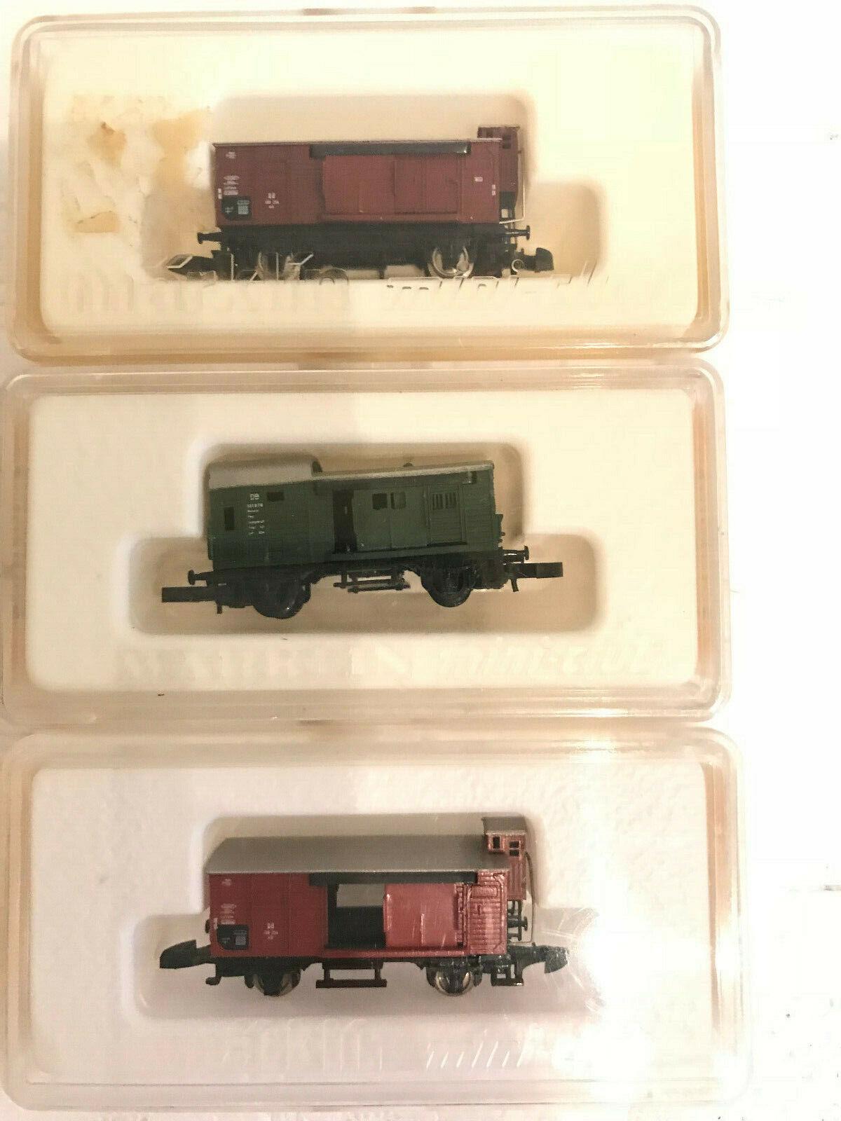 Märklin 3 Güterwagen Spur Z OriginalverVerpackungung