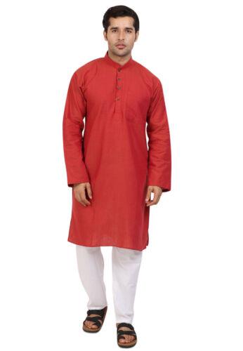 Kurta Pajama Cotton Shirt Bollywood Men/'S Designer Top Tunic Indian Kurta