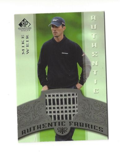 2005 SP SIGNATURE AUTHENTIC FABRICS MIKE WEIR PLAYER WORN SHIRT #AFMW
