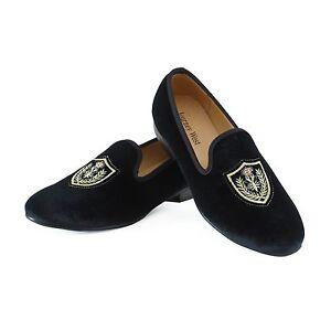 9c426fb6aa583 Image is loading Handmade-Men-Velvet-Loafers-Wedding-Dress-Shoes-Slip-