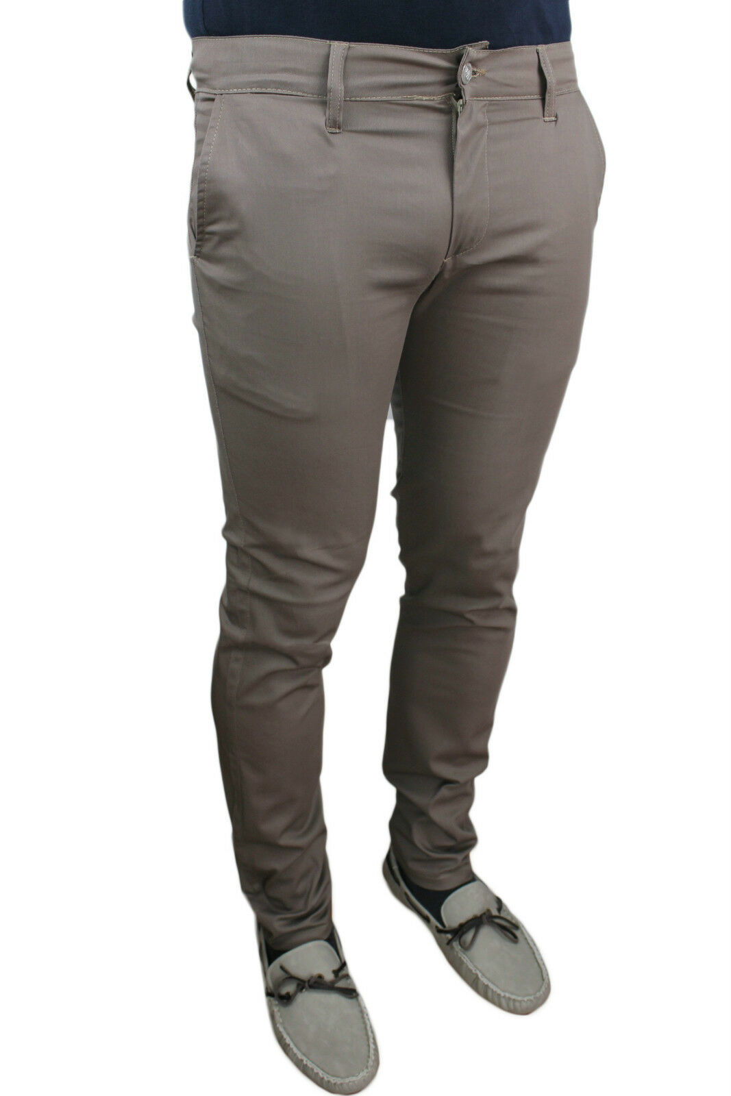TROUSERS SUMMER MAN BATTISTINI JEANS BEIGE MUD SARTORIALE SLIM FIT TIGHT