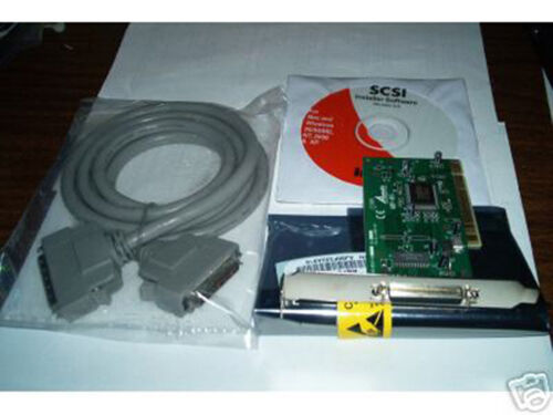NEW AdvanSys SCSI Card ABP-915 PCI+HD50 Male-Male cable