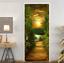 3D-Sunset-Wood-Bridge-Door-Wall-Mural-Wallpaper-Stickers-Vinyl-for-Bedroom thumbnail 5