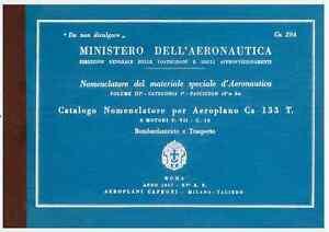 CAPRONI-Ca133-1937-CA294-MM600134-AERONAUTICA-AIRCRAFT-Nomenclatore-DVD