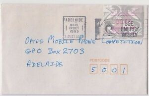 Stamp-Australia-45c-Emu-Frama-cliche-A83-on-1993-cover-used-locally-in-Adelaide