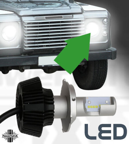 H4 LED Head lamp bulb kit Land Rover Defender SVX 90 110 light hi low philips