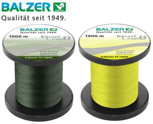 Balzer Iron Line 8-1500m geflochtene Schnur zum Spinnfischen 0,08€//1m Angel