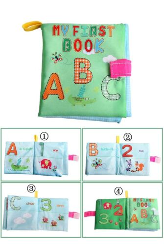 Baby Kid Animal Tails Cloth Book Soft Development Books Learning Education Toy
