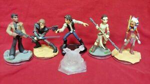 DISNEY-INFINITY-Star-Wars-Han-Solo-Luke-Rey-Finn-Ahsoka-1-0-2-0-3-0-Figure-Lot