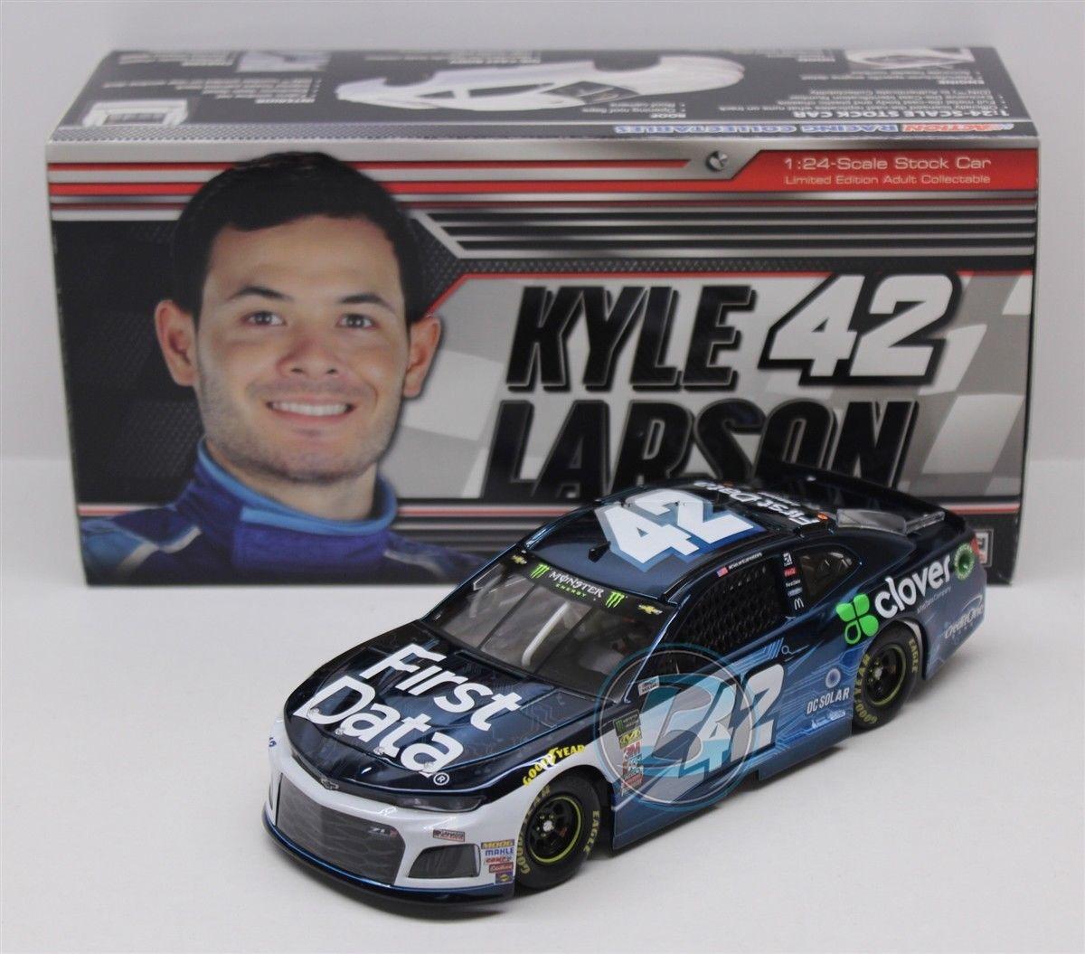 NASCAR 2018 KYLE LARSON  42 FIRST DATA Coloreee CHROME 1 24 DIECAST CAR