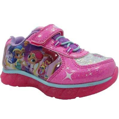 Nickelodeon Girls Shimmer /& Shine Pink Athletic Shoe