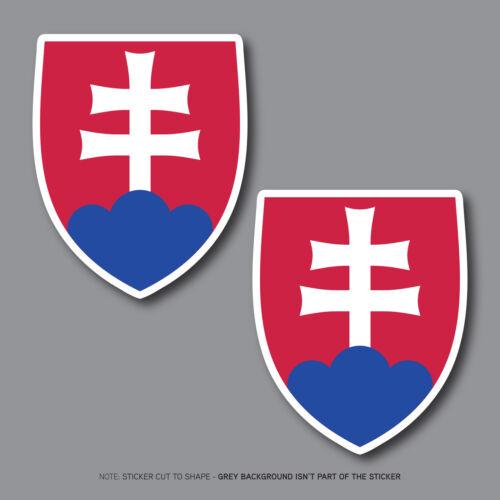 Slovak Slovakia Crest Slovensko Vinyl Sticker Bumper Decal - SKU2690