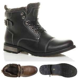 MENS-LACE-UP-ZIP-FUR-TRIM-SMART-WORK-WINTER-ARMY-MILITARY-BIKER-ANKLE-BOOTS-SIZE