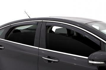 Fits Lincoln MKS 2009-2011 AVS Tape On Window Visors Rain Guards