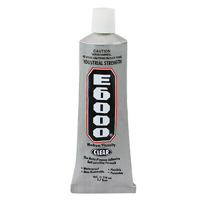 E6000 Industrial Strength Glue Adhesive 110ml 3.7 Oz Jewelry Nails Big Glue