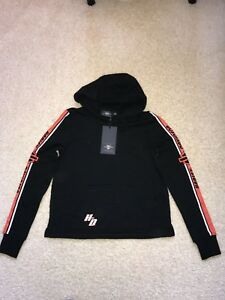 Details about Harley Davidson Women's Activewear Hoodie Hoody Black colorblock Small S NWT
