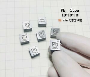 Lead-Metal-10mm-Density-Cube-99-95-Pure-for-Element-Collection
