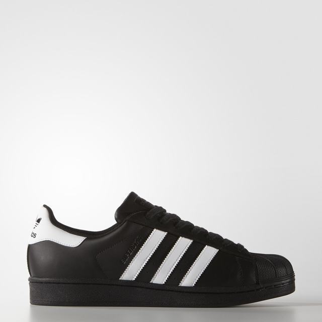 Adidas Superstar Foundation Mens shoes Original Trefoil Retro Black White