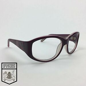 dcb7a263b710 Image is loading TED-BAKER-eyeglass-PURPLE-WHITE-frame-OVAL-Authentic-