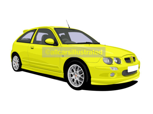 CHOOSE YOUR CAR COLOUR AND ALLOY WHEEL STYLE ROVER MG ZR METAL KEY RING