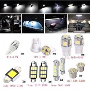 14X-Blanco-Canbus-Coche-T10-LED-Luz-Interior-Bombilla-Kit-Para-Mapa-Cupula-matricula