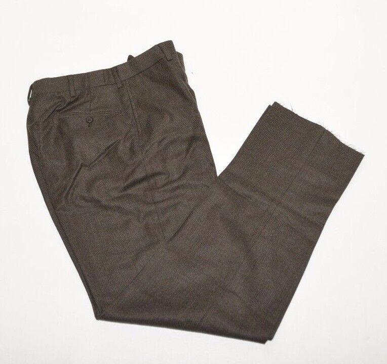 Ralph Lauren Dress Pants Mens 40 Regular Virgin Wool Heather  Brown